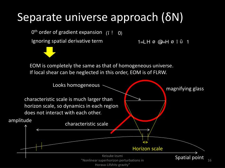 Separate universe approach (