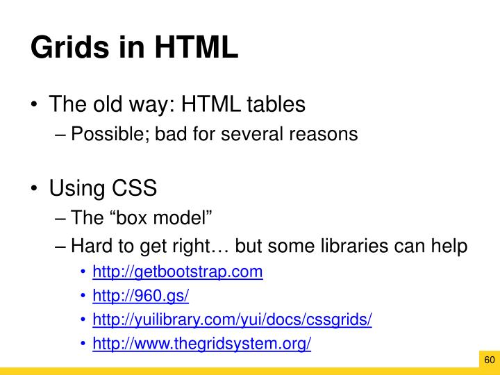Grids in HTML