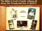 the bible is god s family album all about his wonderful son jesus