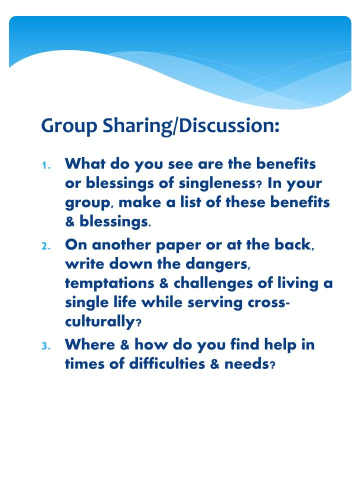 Group Sharing/Discussion: