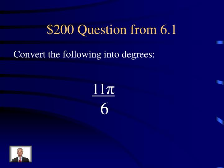 $200 Question from 6.1