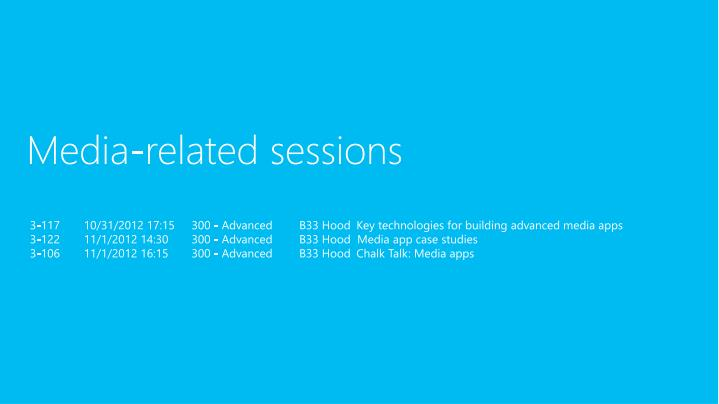 Media-related sessions