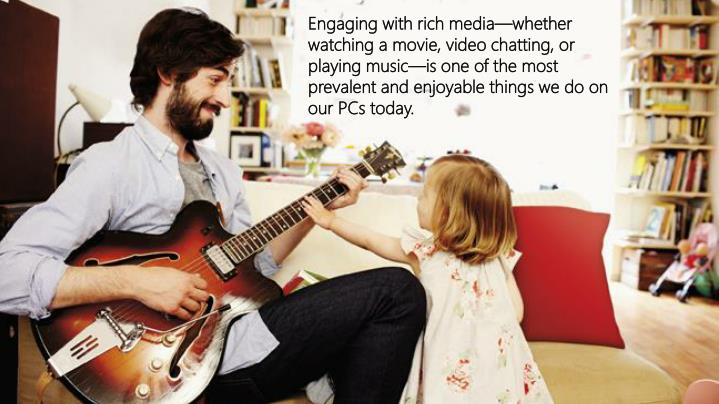 Engaging with rich media—whether watching a movie, video chatting, or playing music—is one of the most prevalent and enjoyable things we do on our PCs today.