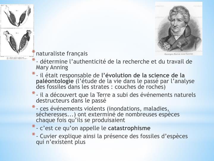 naturaliste français