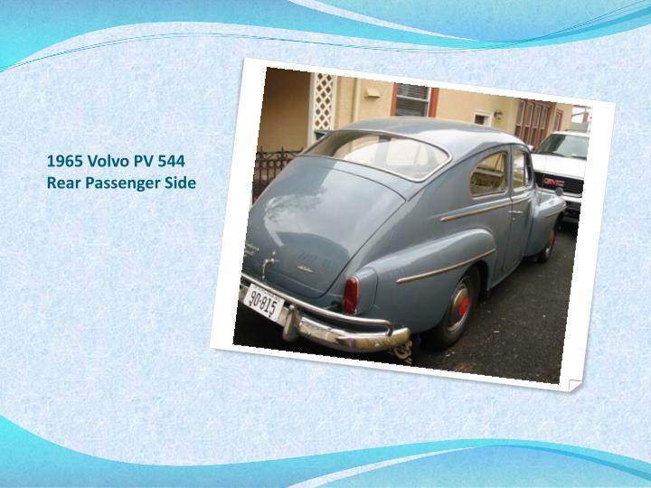 1965 Volvo PV 544 Rear Passenger Side