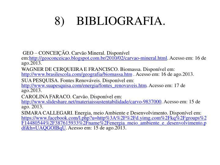 8)BIBLIOGRAFIA.