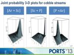 joint probability 3 d plots for cobble streams