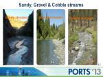 sandy gravel cobble streams