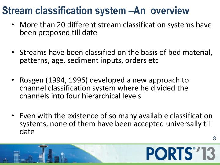 Stream classification system –An  overview