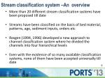 stream classification system an overview