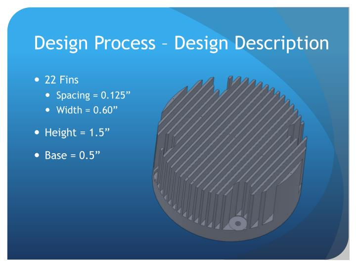 Design Process – Design Description