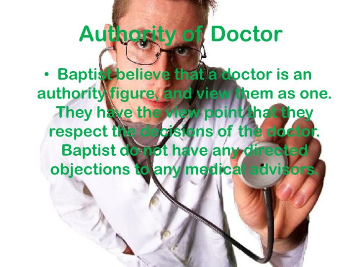 Authority of Doctor