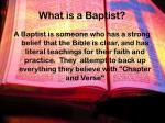 what is a baptist
