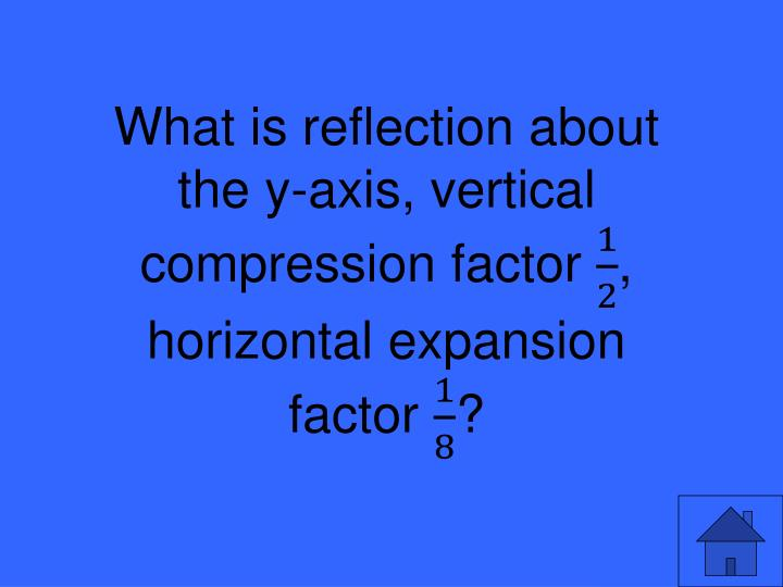What is reflection about the y-axis, vertical compression factor
