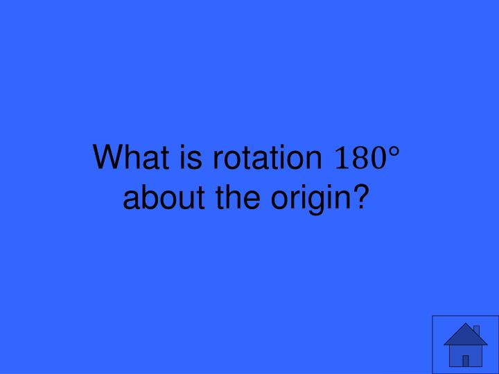 What is rotation