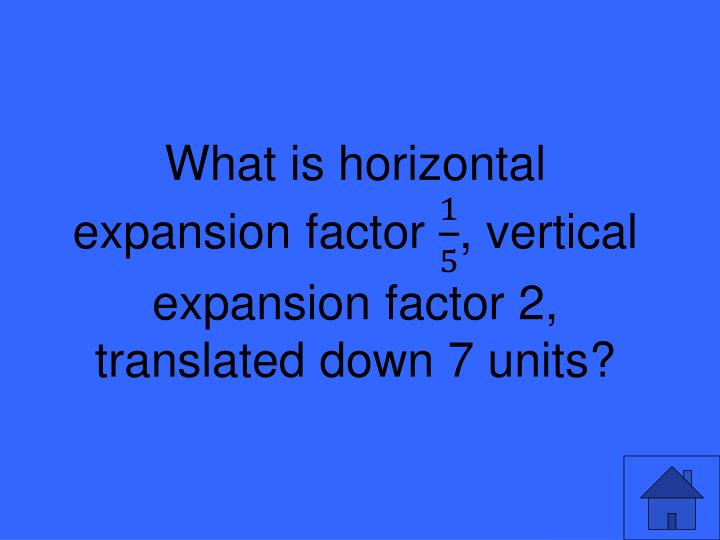 What is horizontal expansion factor