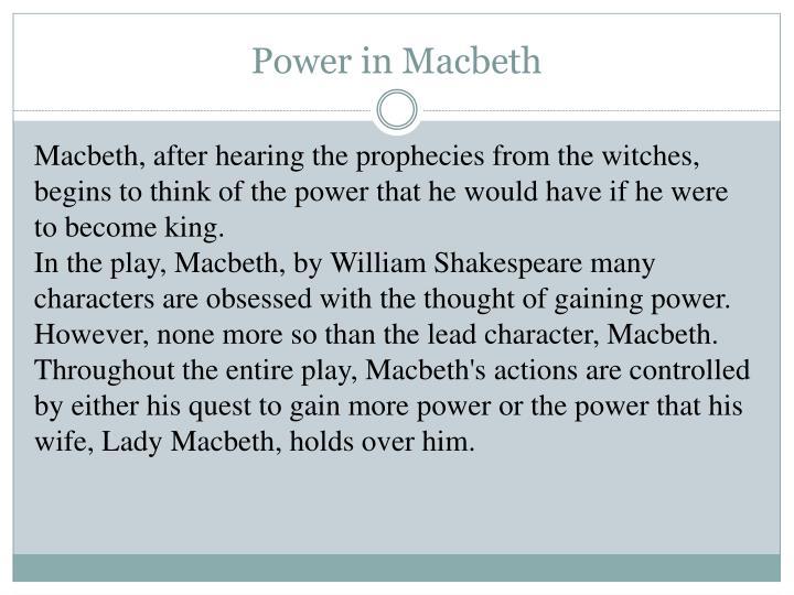 Power in Macbeth