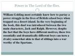 power in the lord of the flies