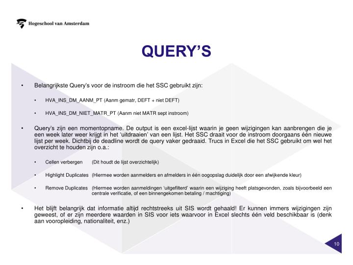 QUERY's