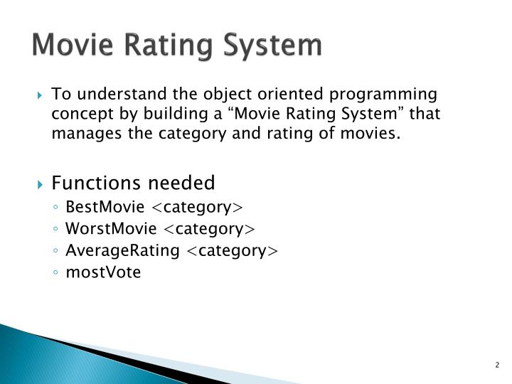 Movie rating system