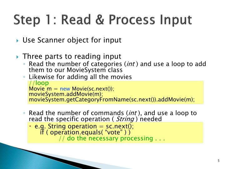 Step 1: Read & Process Input