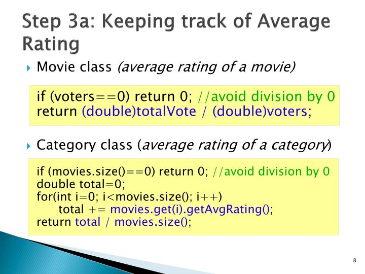 Step 3a: Keeping track of Average