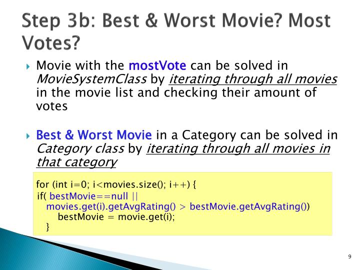 Step 3b: Best & Worst Movie? Most Votes