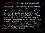 love connection vs mutual affection