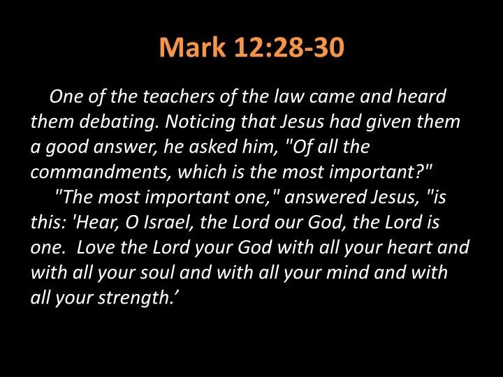 Mark 12:28-