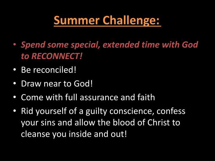 Summer Challenge: