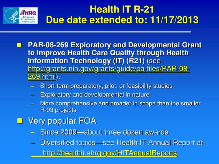 Health IT R-21