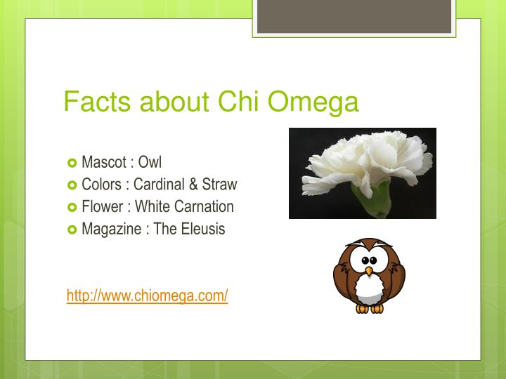 Facts about Chi Omega