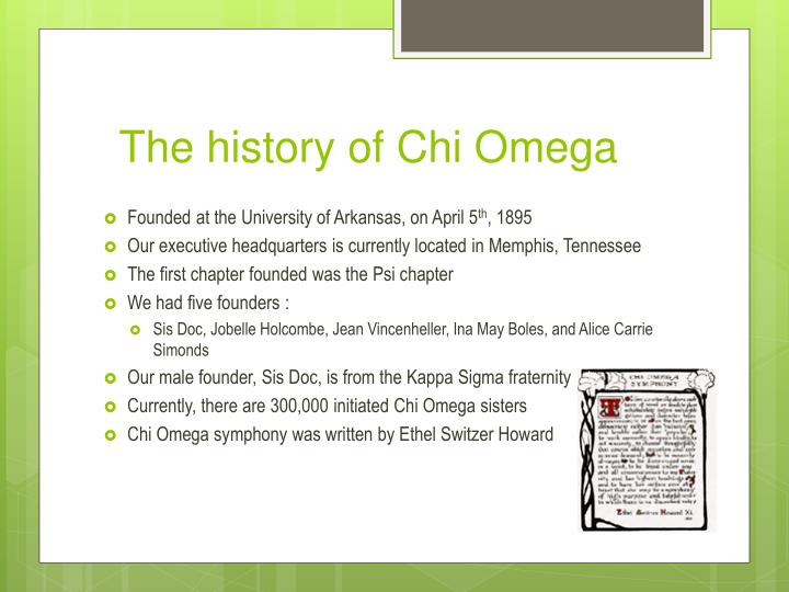 The history of chi omega