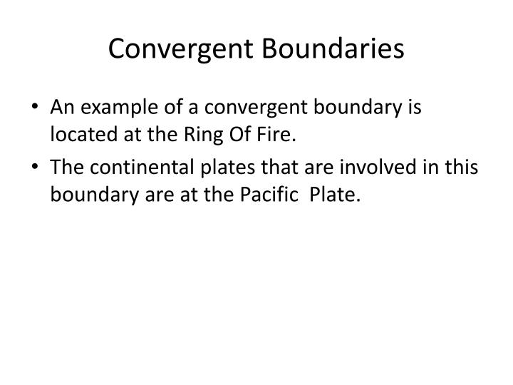 Convergent Boundaries