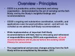 overview principles