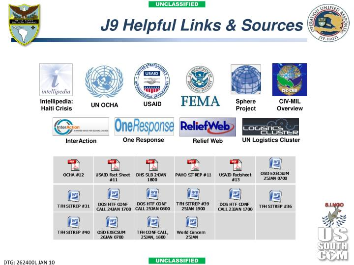 J9 Helpful Links & Sources