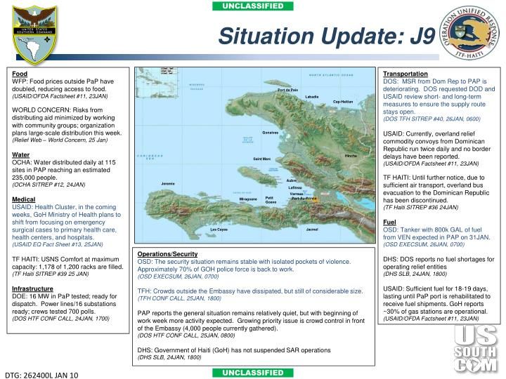 Situation Update: J9