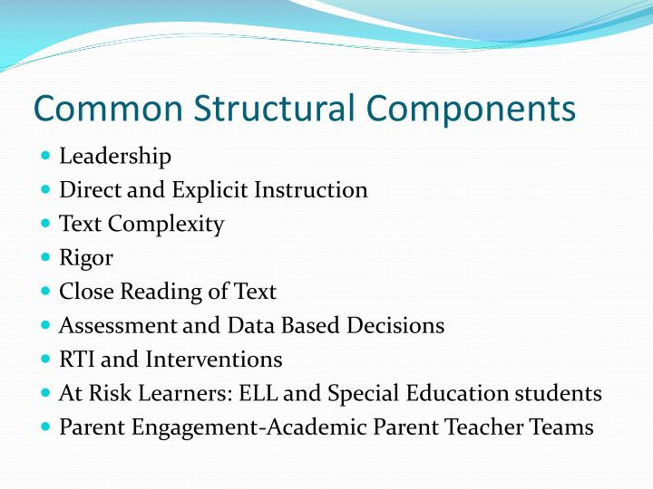 Common Structural Components
