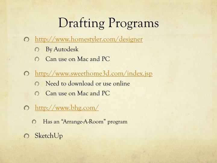 Drafting Programs