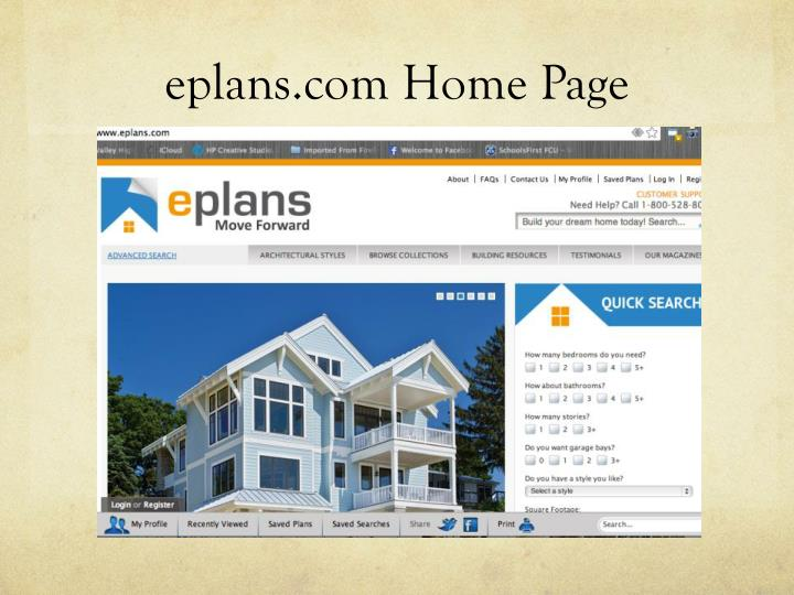 eplans.com Home Page
