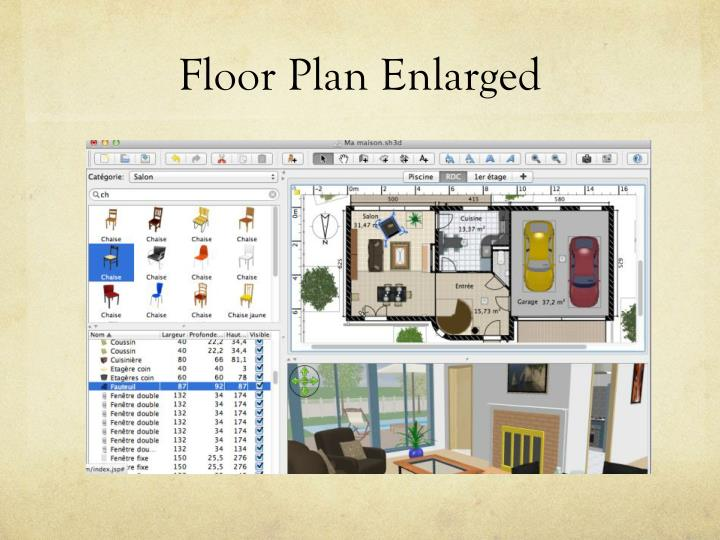 Floor Plan Enlarged