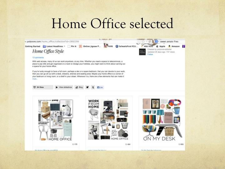 Home Office selected