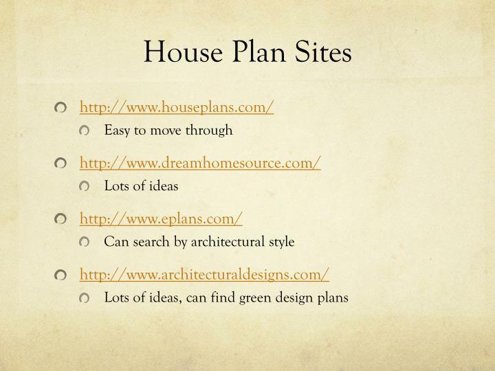 House Plan Sites