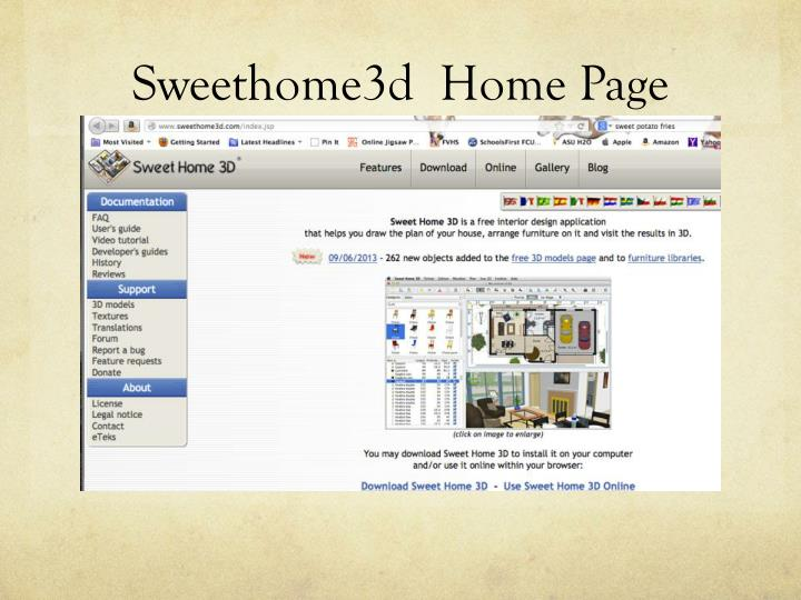 Sweethome3d  Home Page
