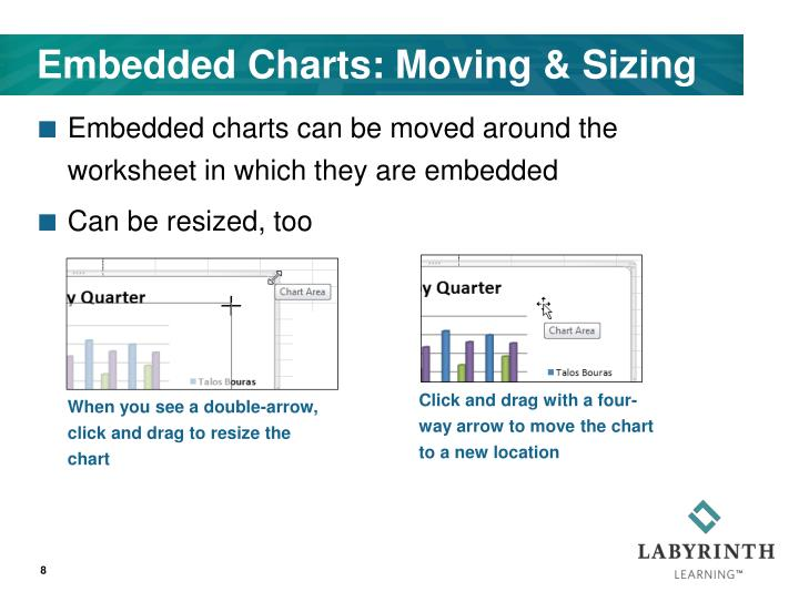 Embedded Charts: Moving & Sizing