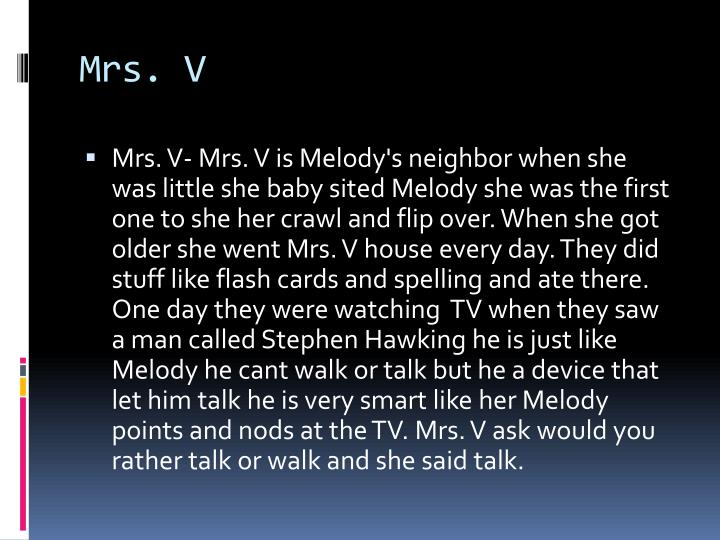 Mrs. V