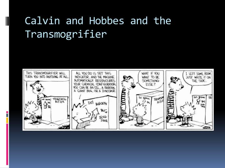 Calvin and hobbes and the transmogrifier