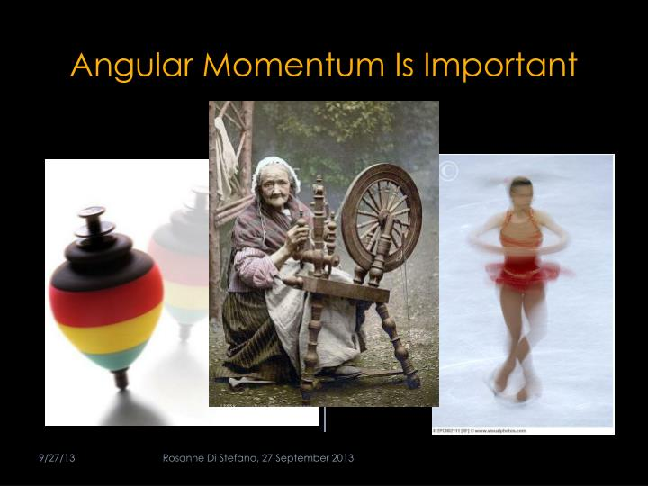 Angular Momentum Is Important