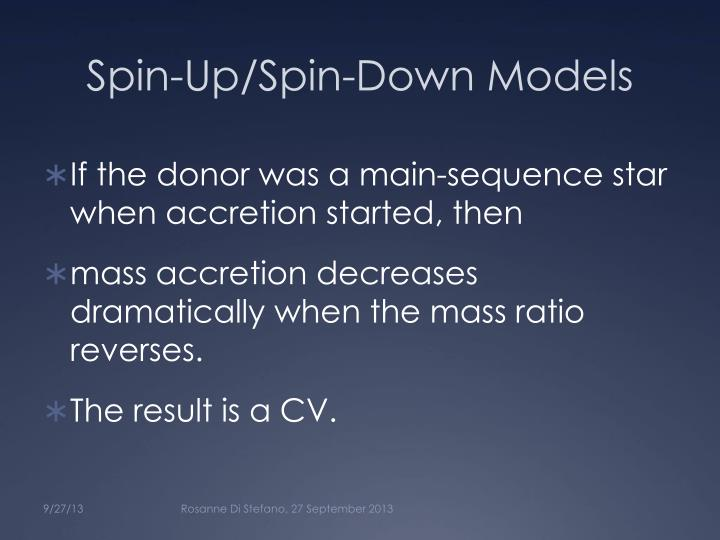 Spin-Up/Spin-Down Models
