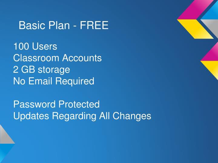Basic Plan - FREE